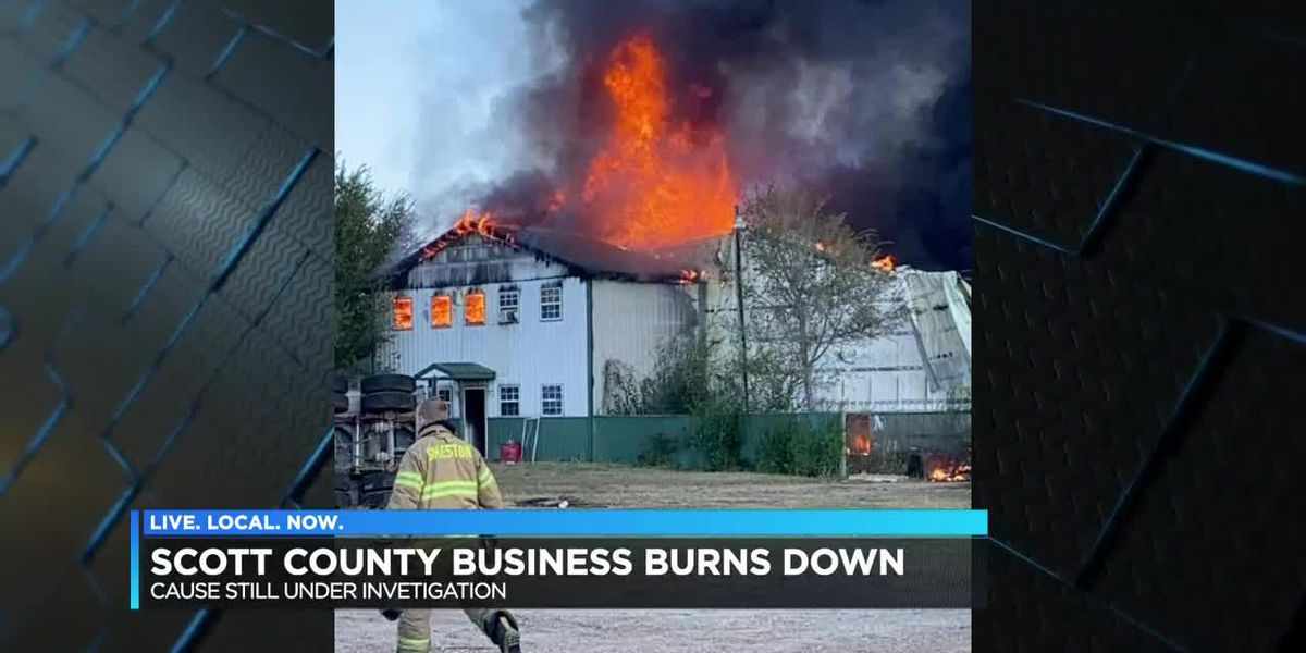 Scott City business burns down