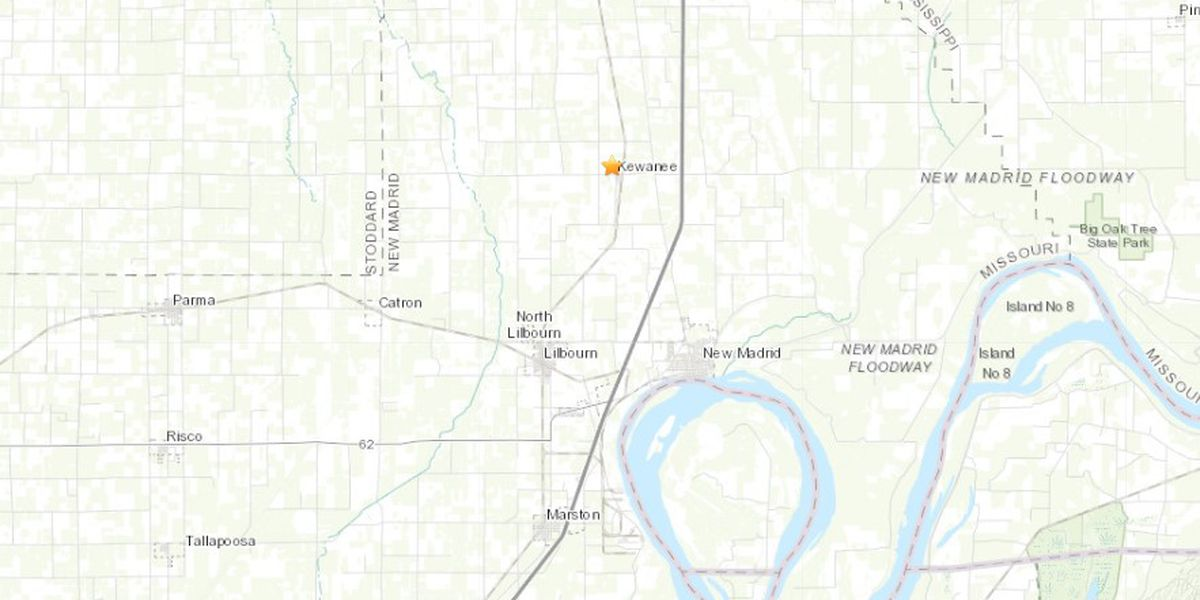 Small earthquake registered near Lilbourn, Mo.