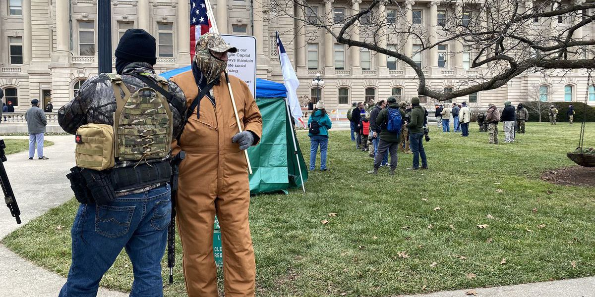 Armed protesters gather outside Ky. capitol