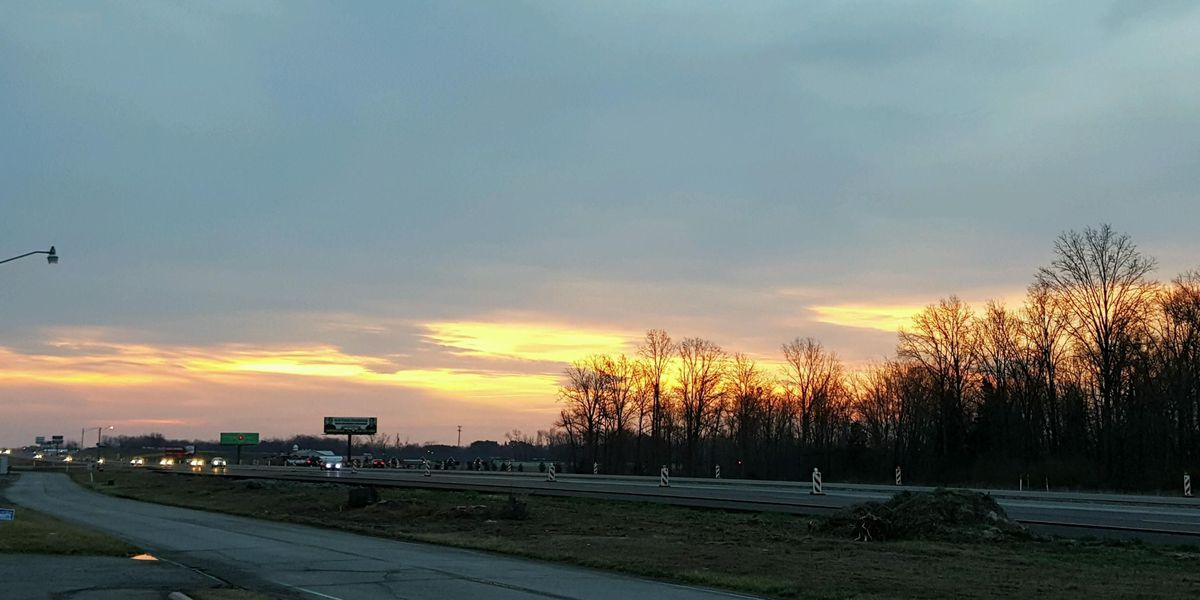 Relatively calm morning in southern Illinois