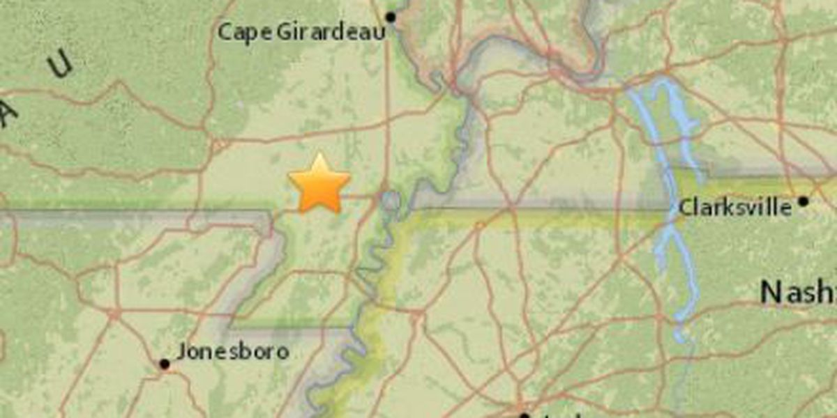 2.7 magnitude earthquake felt in MO, TN