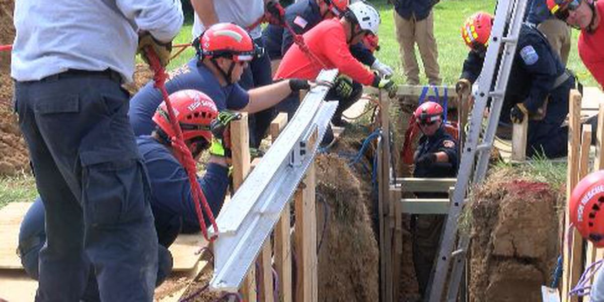 Region E HSRT trains on trench rescues