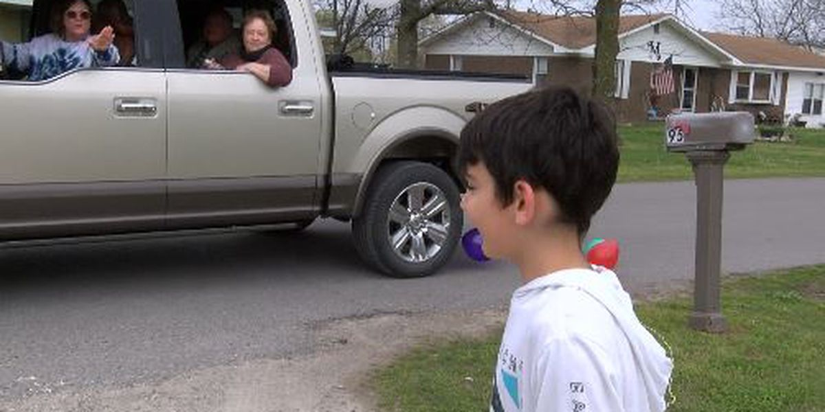 Birthday parade held for 9-year-old in East Prairie, Mo