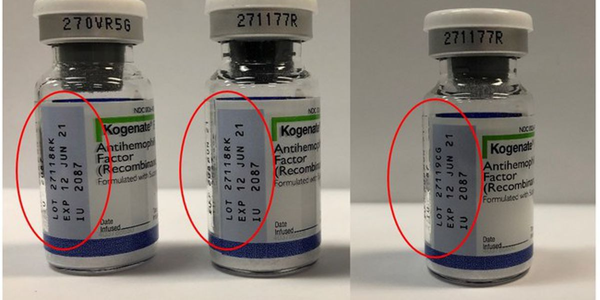 Bayer recalls 990 vials of drug that treats serious bleeding