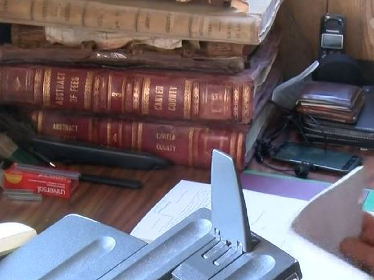 Carter County preserving flooded documents with scanners