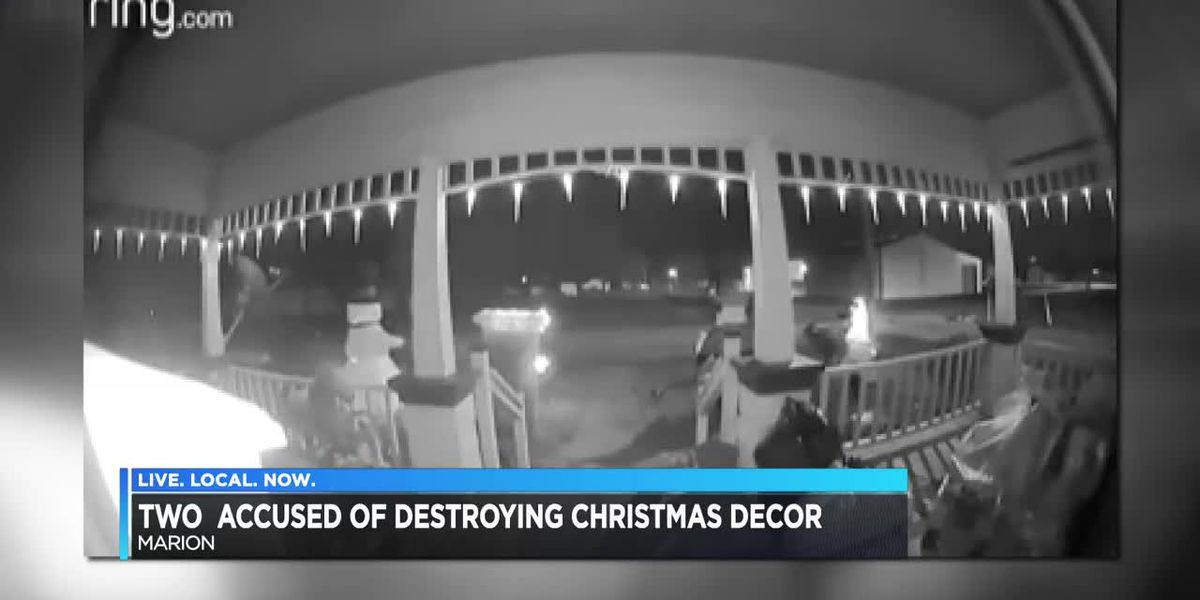 Marion Christmas decorations damaged