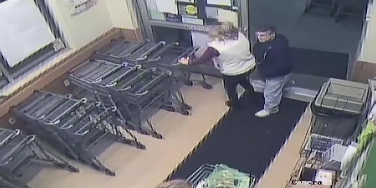 RAW: Surveillance video shows alleged syringe attack at Md. grocery store