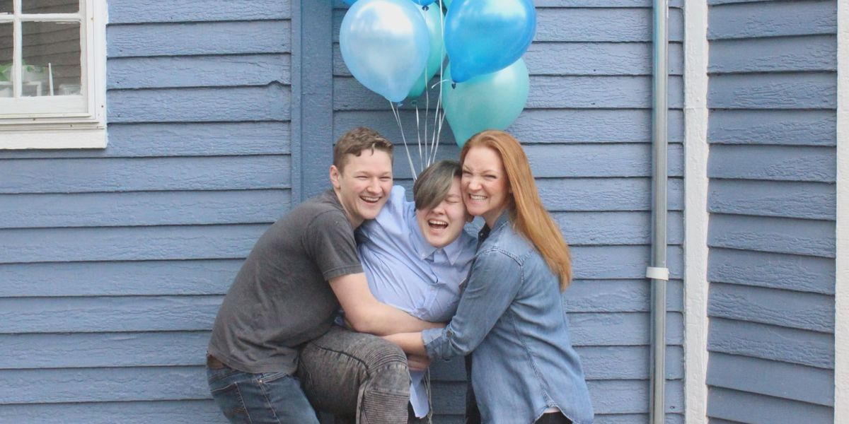 Louisville mom celebrates son coming out as trans with epic gender reveal photo shoot