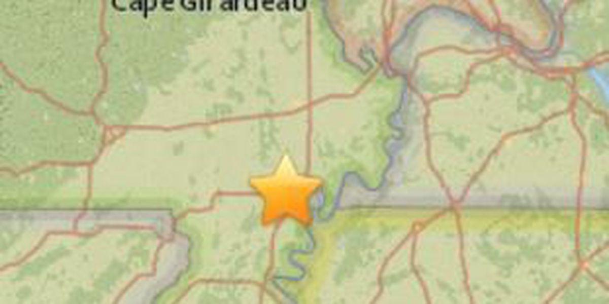 2.8 magnitude earthquake centered in New Madrid Co., MO