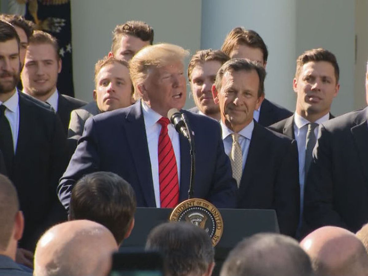 St. Louis Blues visit the White House