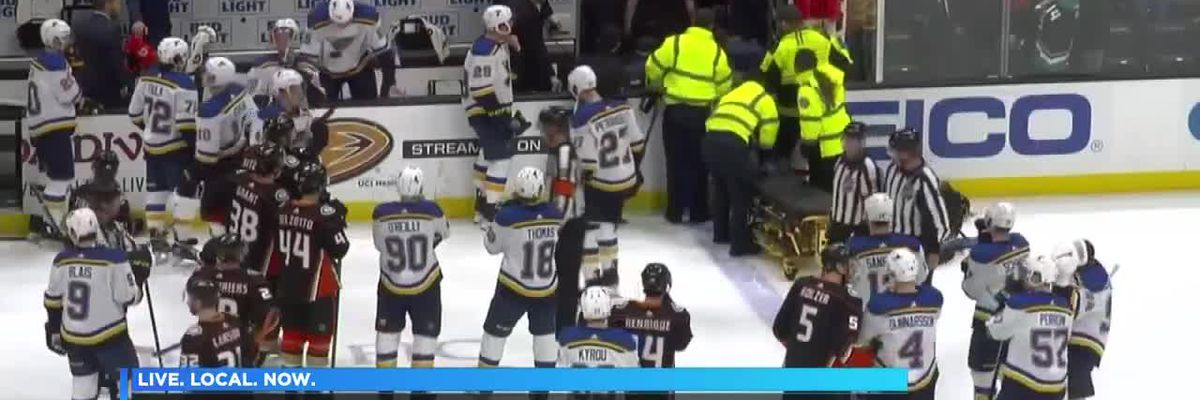 St. Louis Blues player Jay Bouwmeester suffers 'cardiac episode' during game