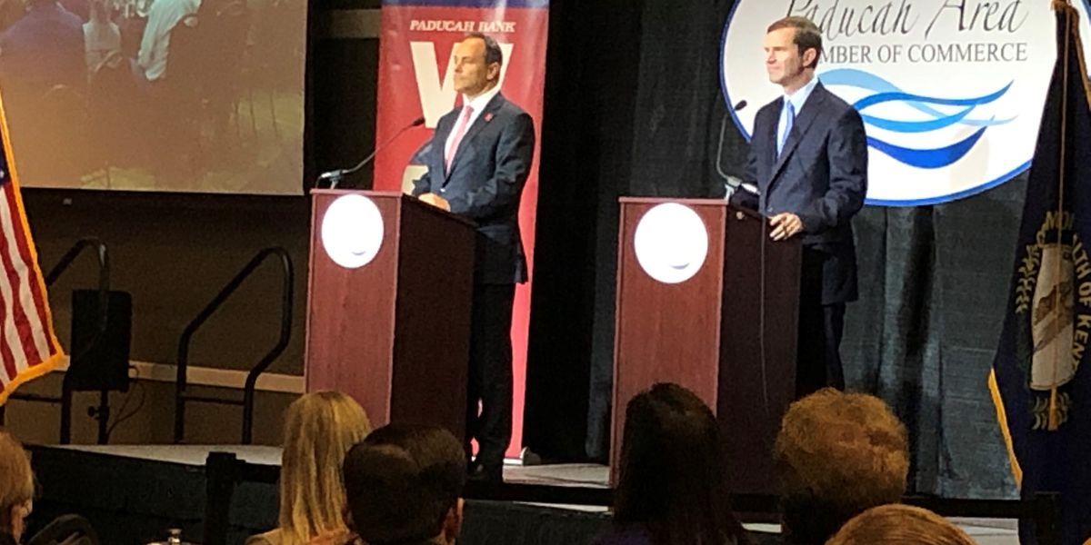 Bevin, Beshear attend forum in Paducah