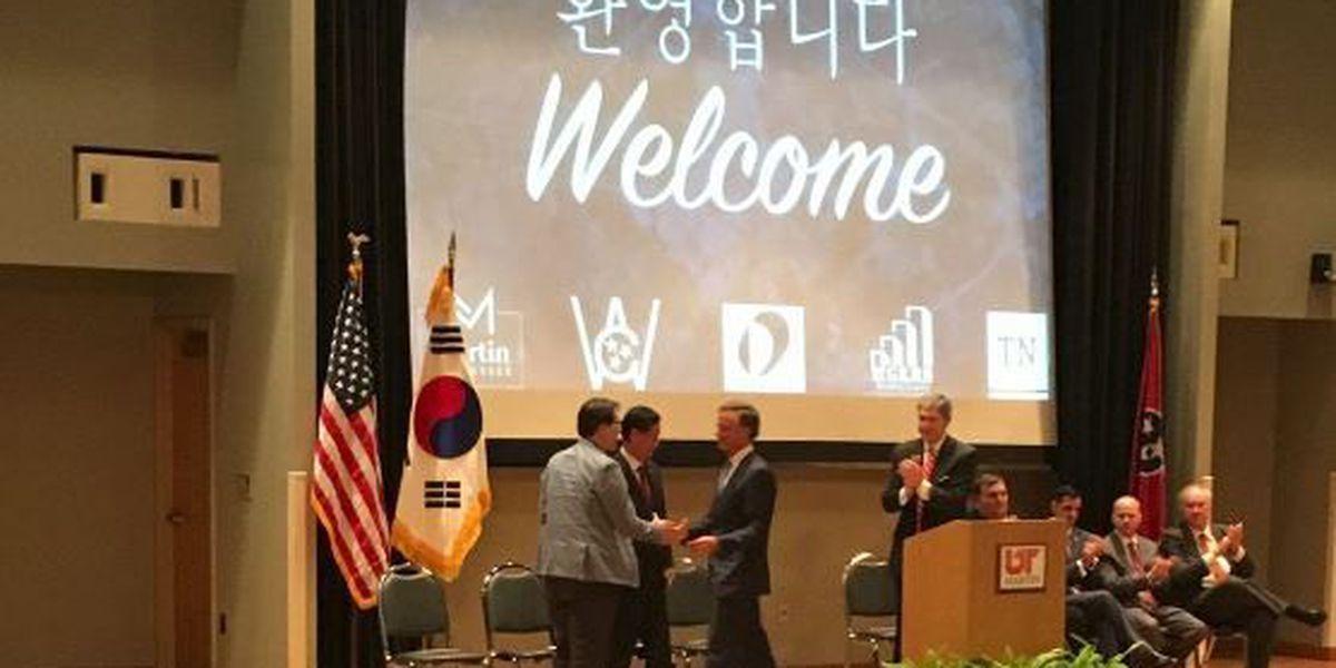 South Korean manufacturer bringing 220 jobs to Martin, TN