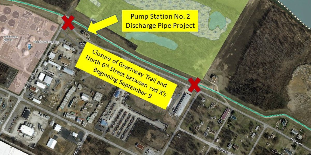 Portion of river trail to close during pump station project