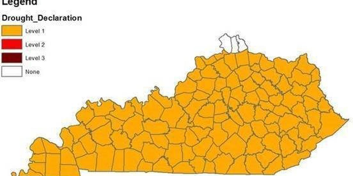 Level I drought declaration issued for most of Kentucky