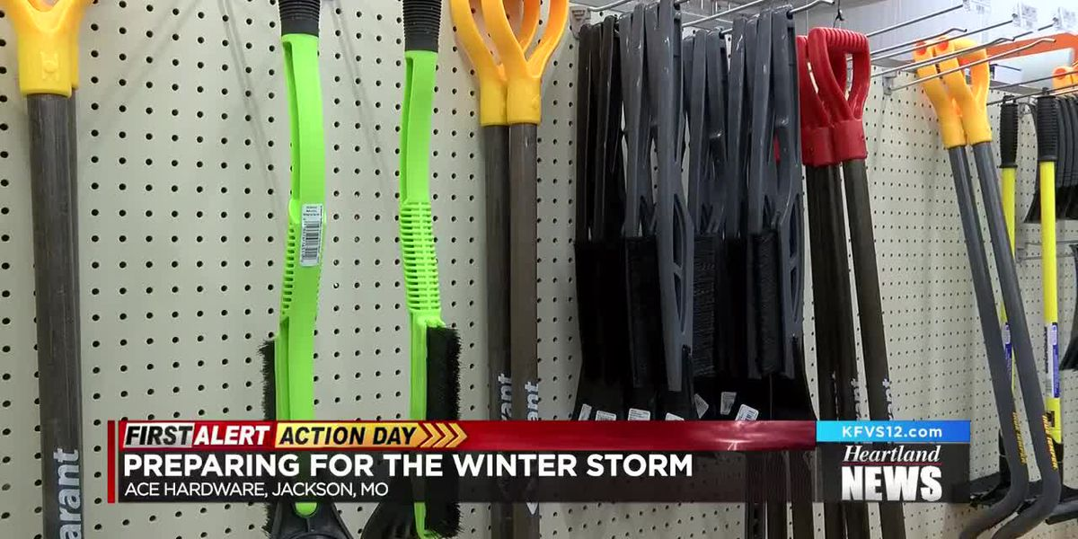 People gather supplies to deal with winter weather