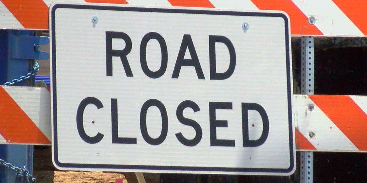 Vehicle crash into building causes road closure