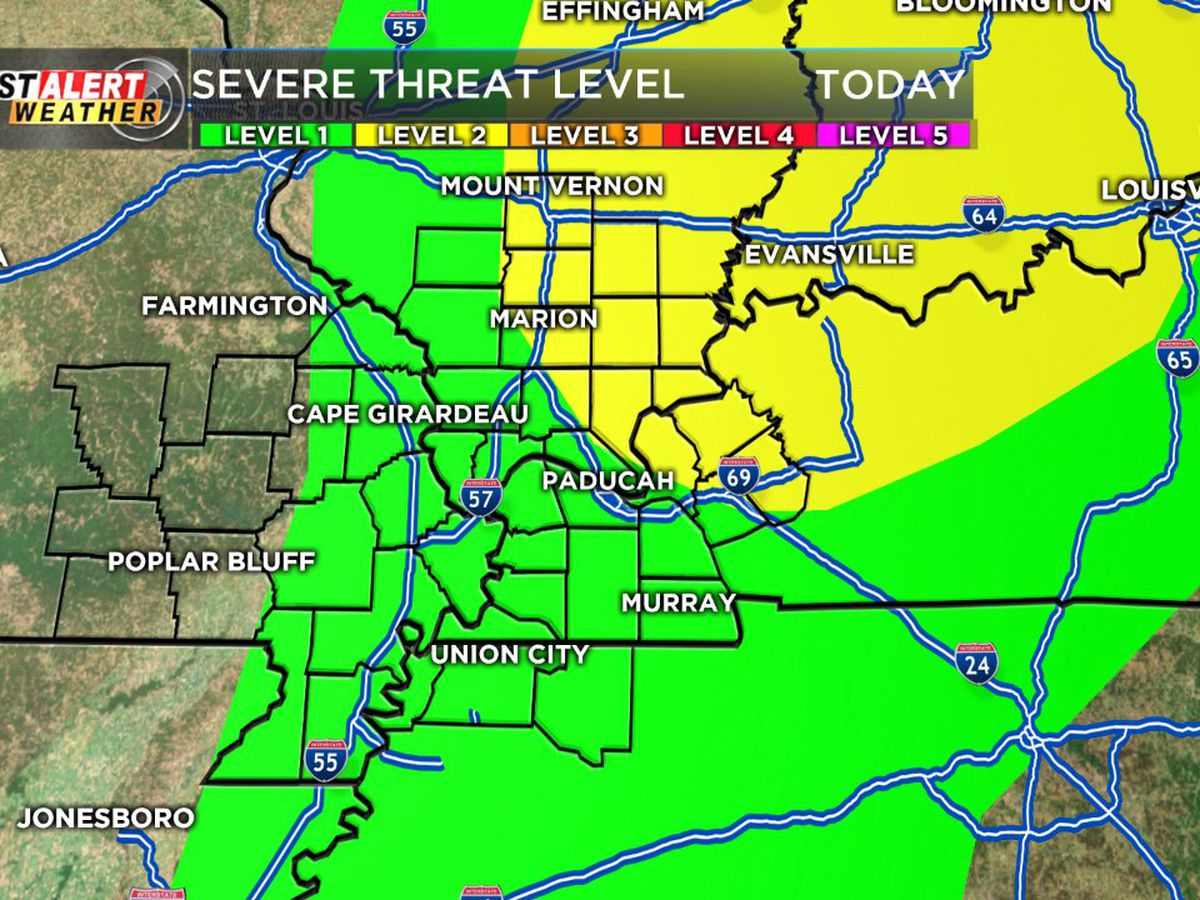 First Alert: Chance of thunderstorms throughout the day