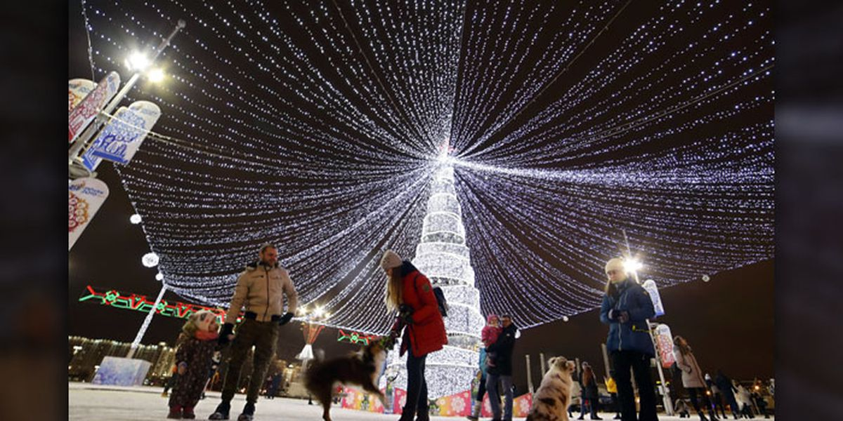 Stunning Christmas trees around the world