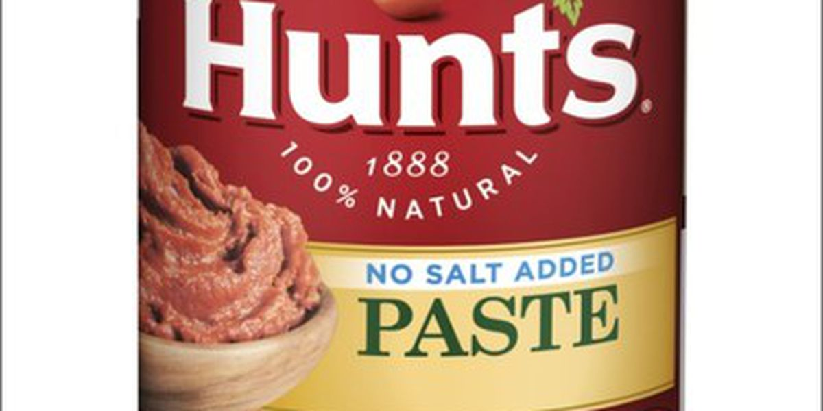 Limited recall of Hunt's Tomato Paste cans due to potential mold