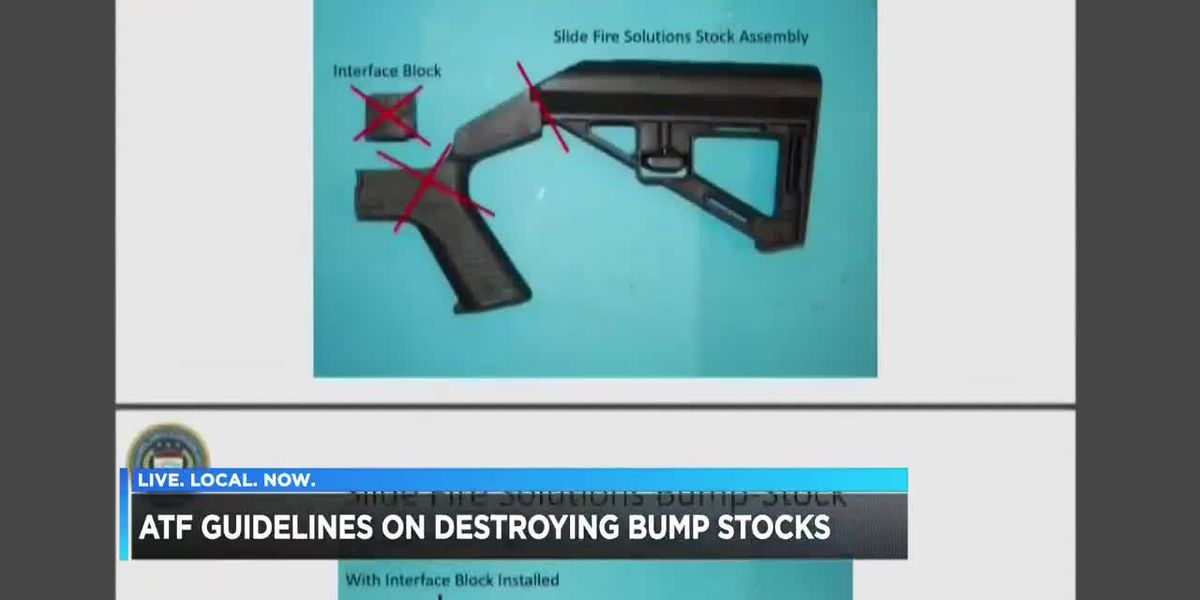 ATF guideline on destroying bump stocks