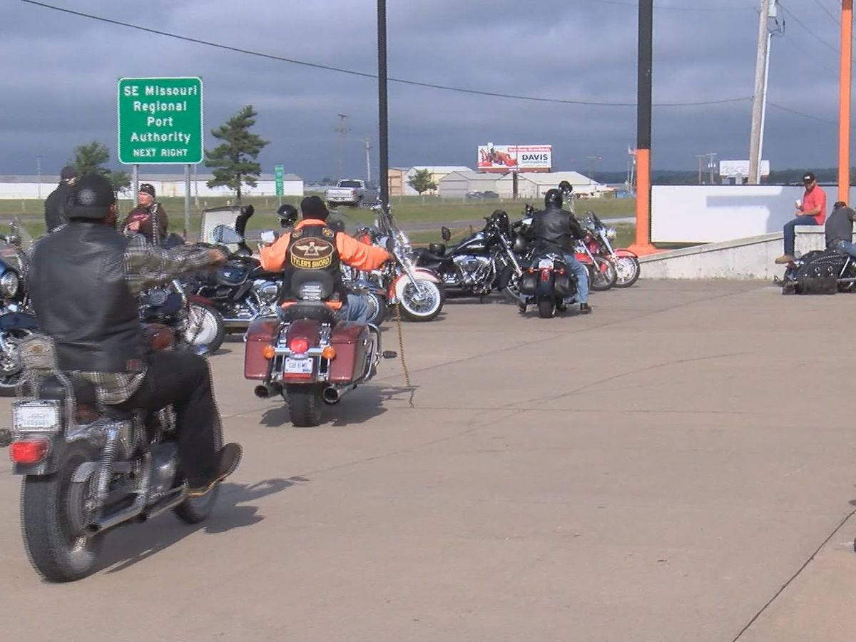 Hundreds of motorcyclists participate in memorial run for disabled veterans