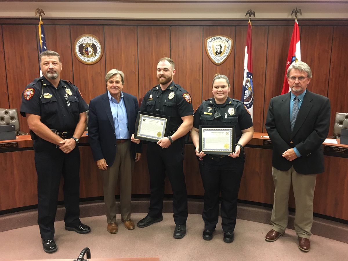 Jackson police officers recognized for swift water rescue