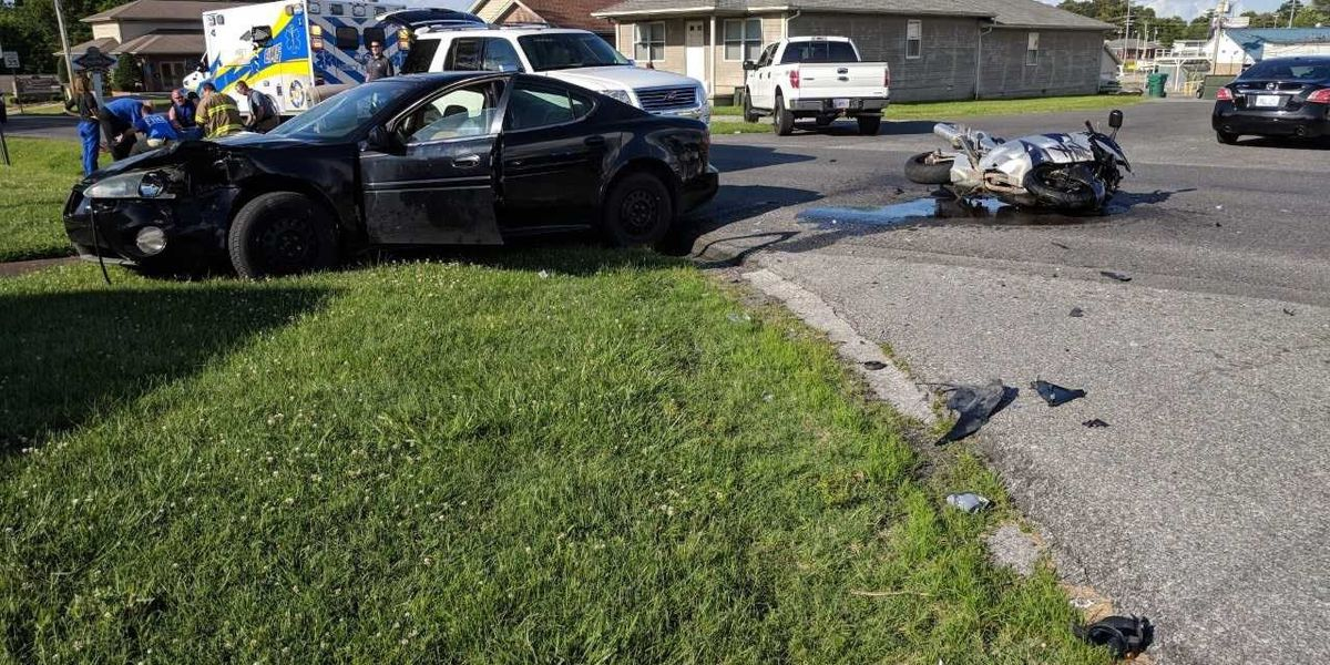 1 injured in car-motorcycle crash in McCracken County, MO