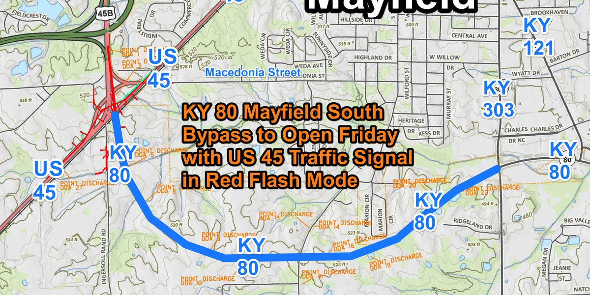 New KY 80 Mayfield South Bypass to open Friday, Nov. 20