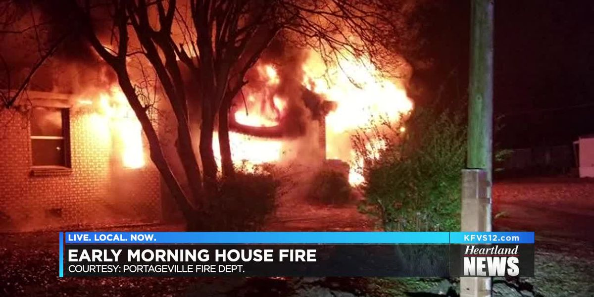 Early morning house fire in Portageville, MO