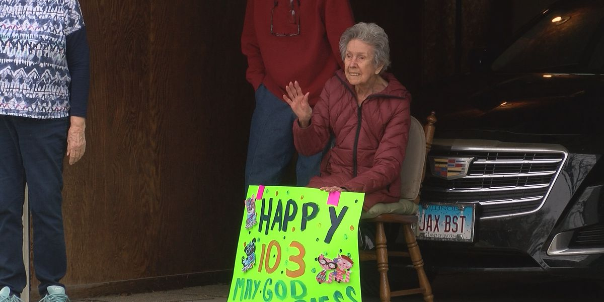 103-year-old woman gets surprise birthday parade