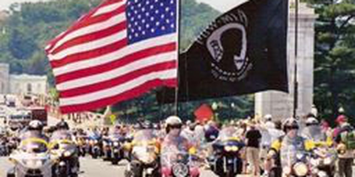 National 'Run for the Wall' motorcycle ride in Mt. Vernon, IL