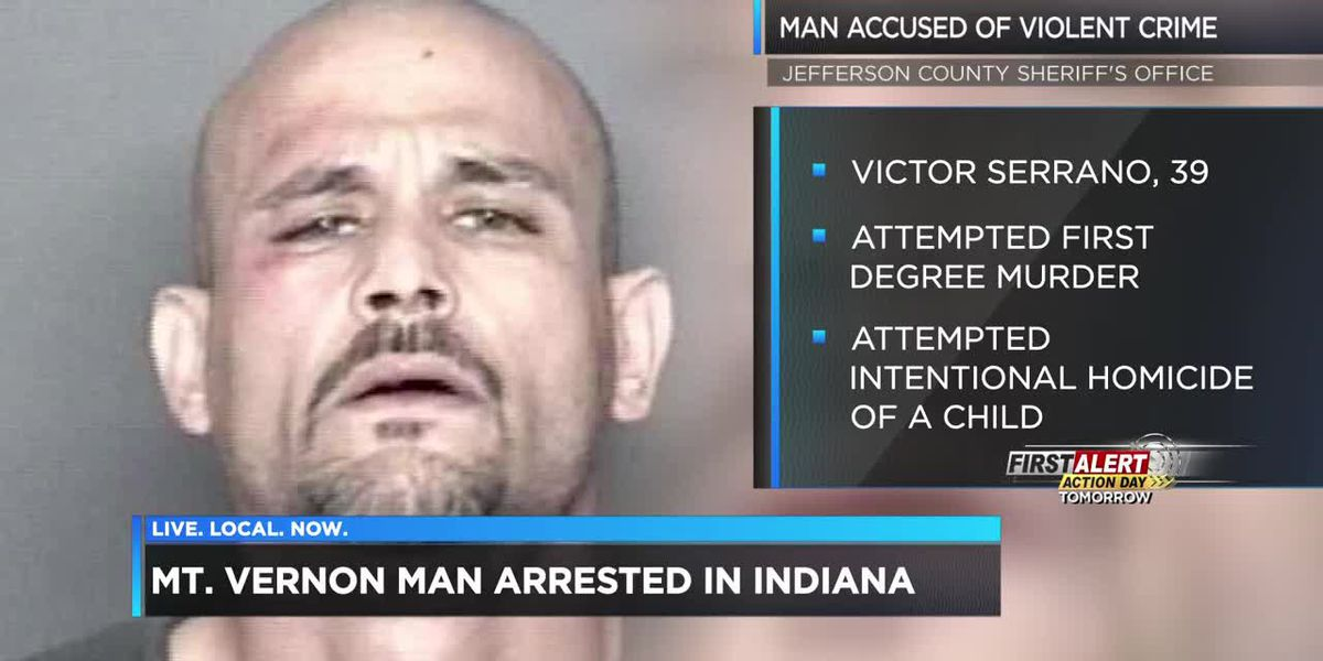 Mt. Vernon man arrested in Indiana