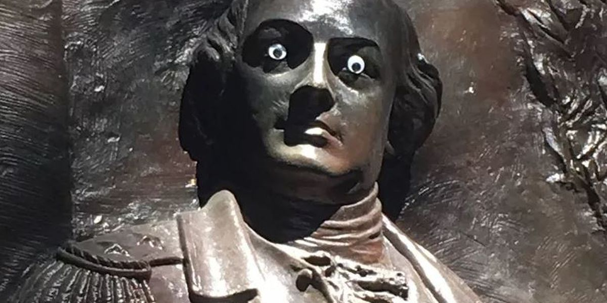 Police Investigating After Googly Eyes Found on a Savannah Statue