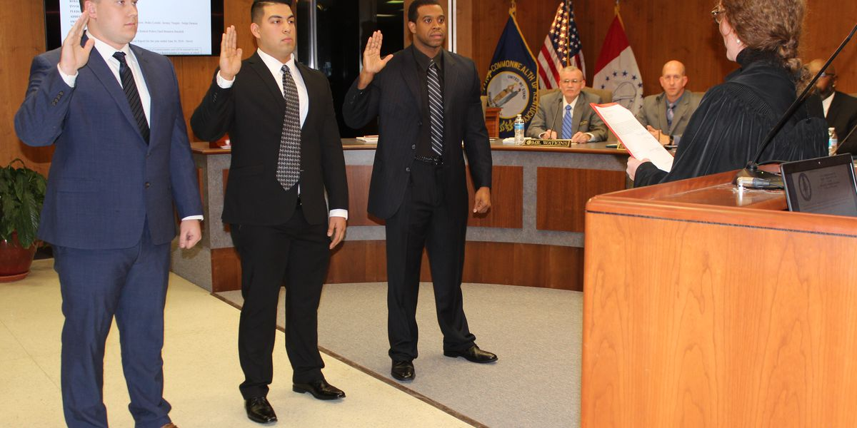 3 new Paducah officers sworn in