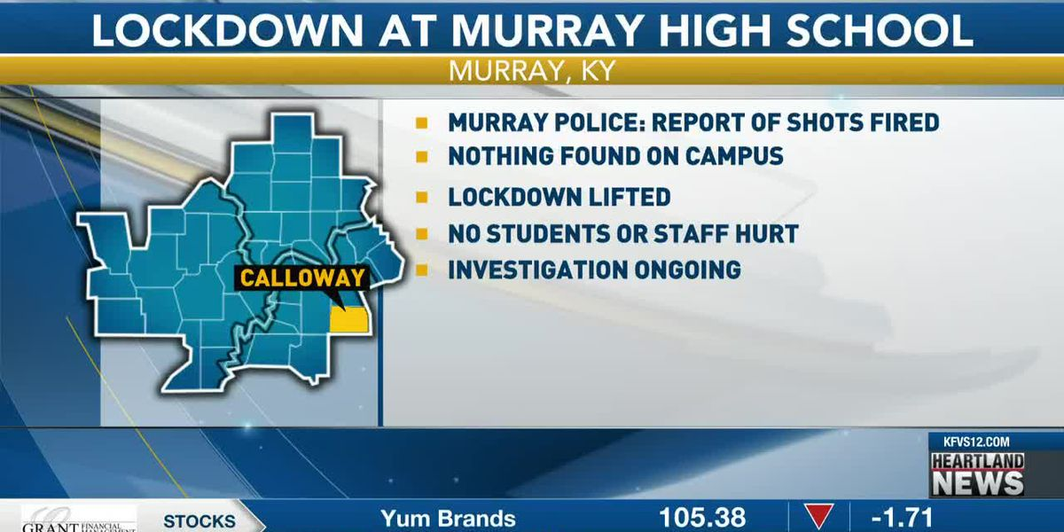 Police investigating, lockdown lifted after reports of shots fired at Murray H.S.