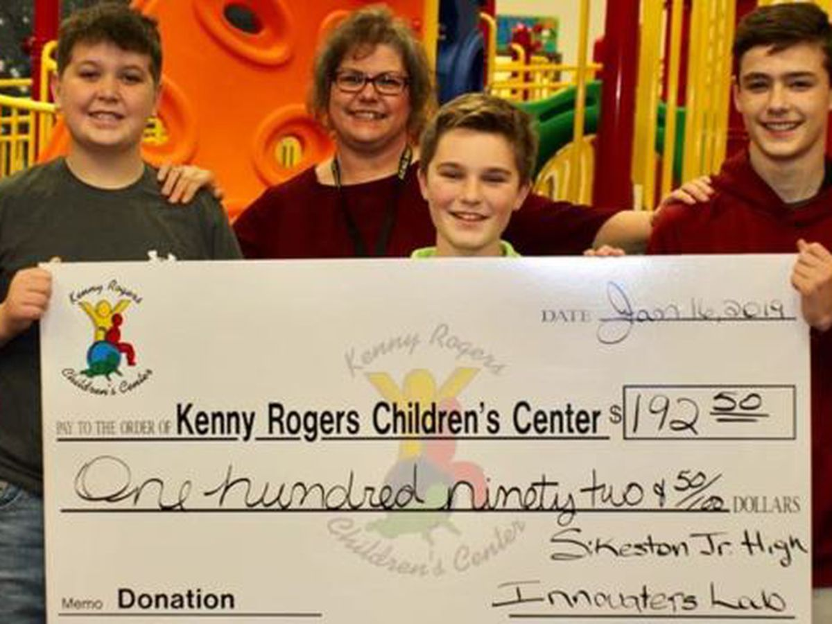 Sikeston Junior High students raise money for Kenny Roger Children's Center