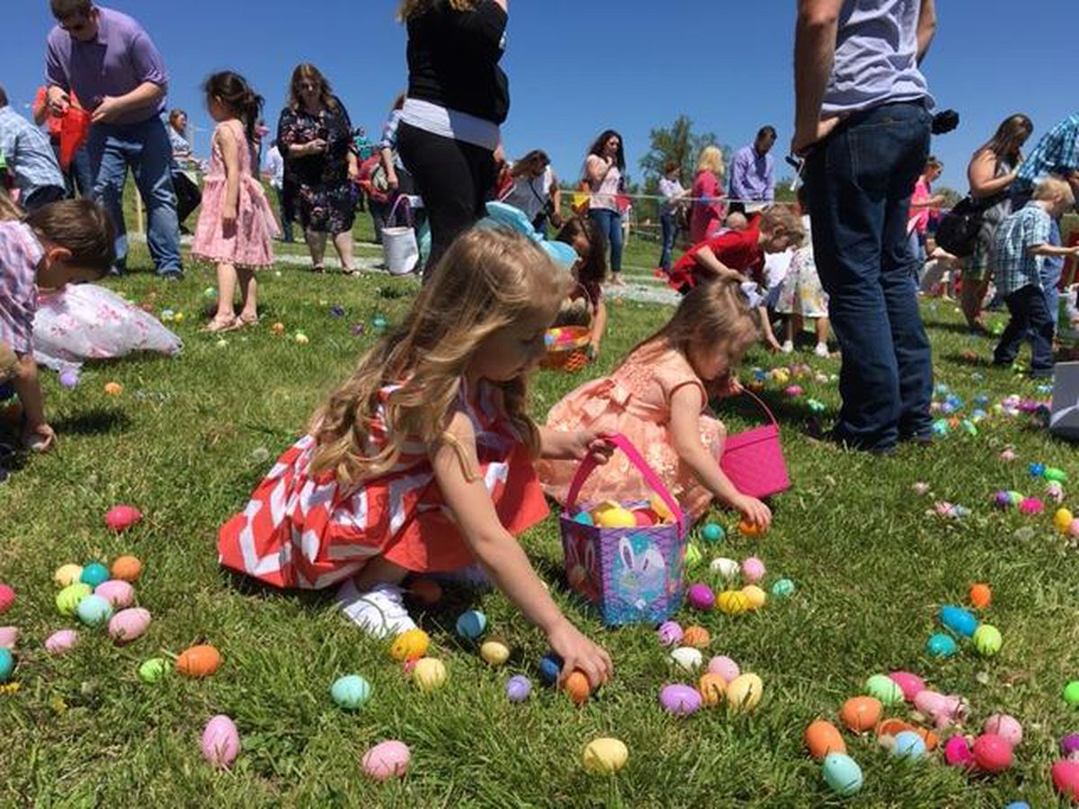 Thousands attend Easter services, helicopter egg drop at Jackson church