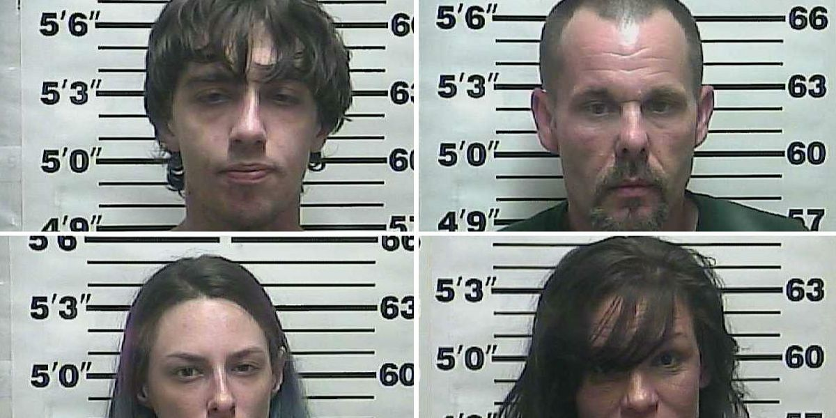 4 arrested on drug charges in Weakley County, TN