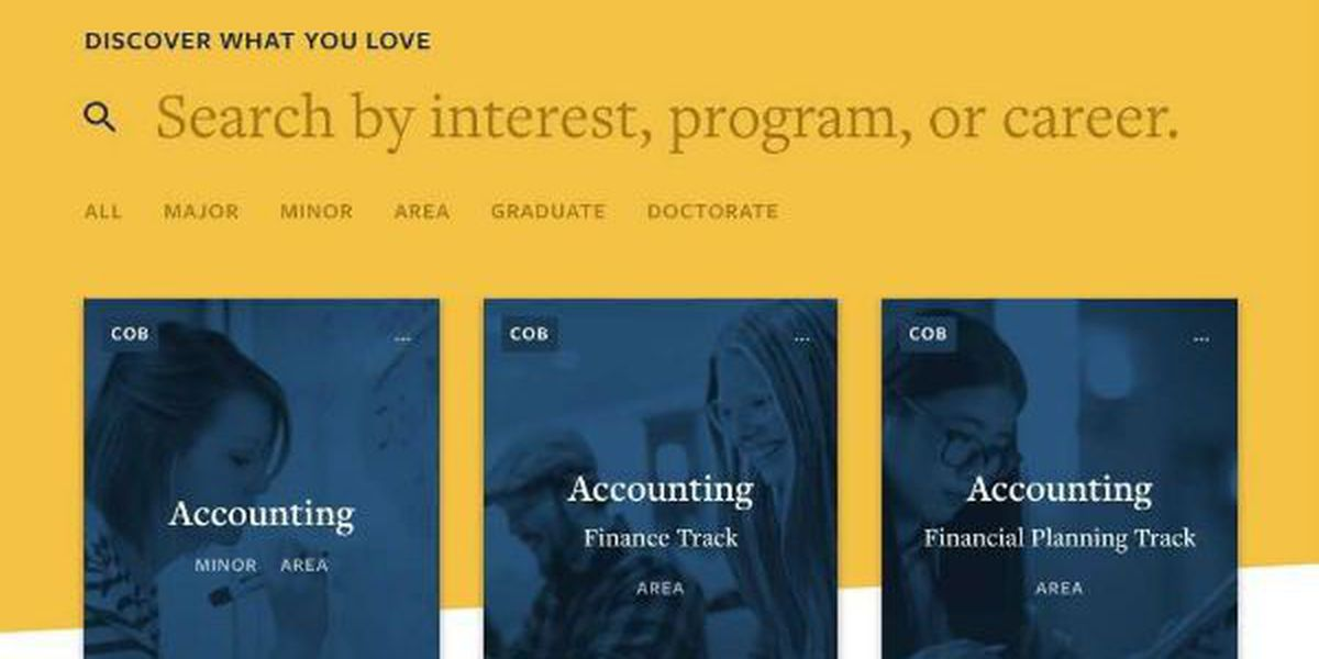 Murray State launches new academic programs website and search engine