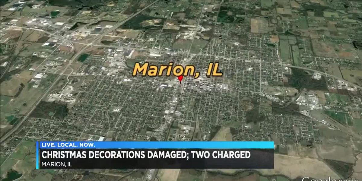 Christmas decorations damaged in Marion, IL