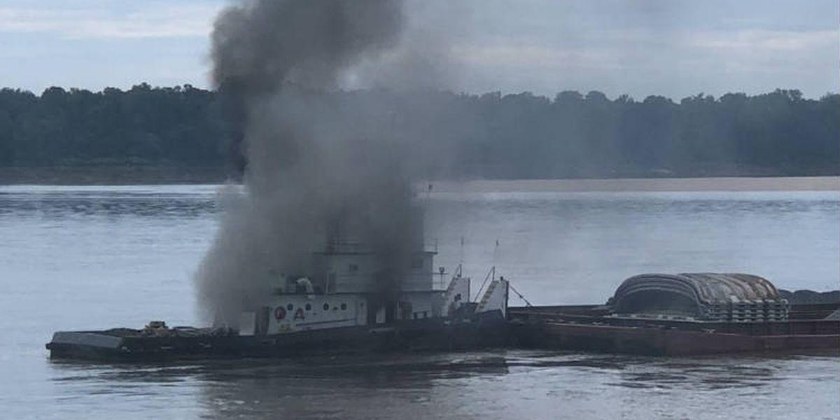 Crew safe after vessel fire on lower Mississippi River