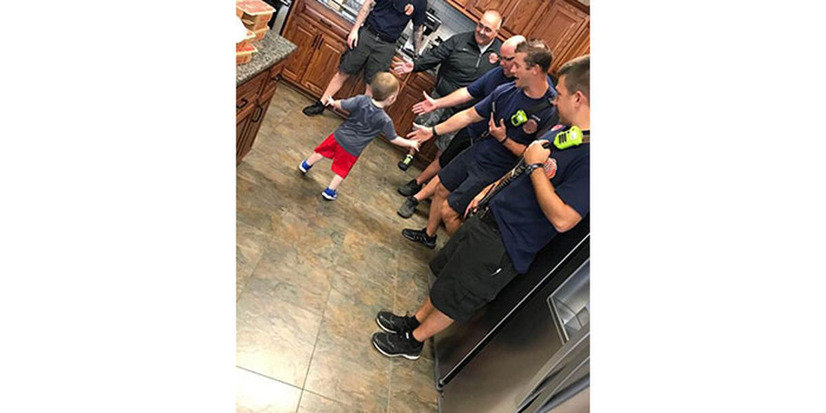 Guests cancel on boy's birthday party, fire department throws surprise party at station
