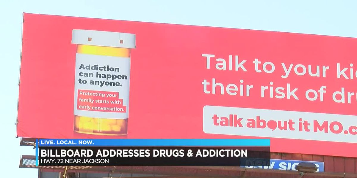 Billboard addresses drugs and addiction