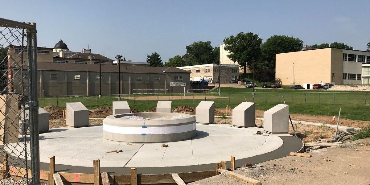 Progress being made on NPHC plaza at Southeast