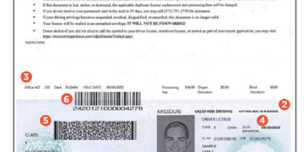 Mo. Dept. of Revenue announces changes to temporary driver licenses
