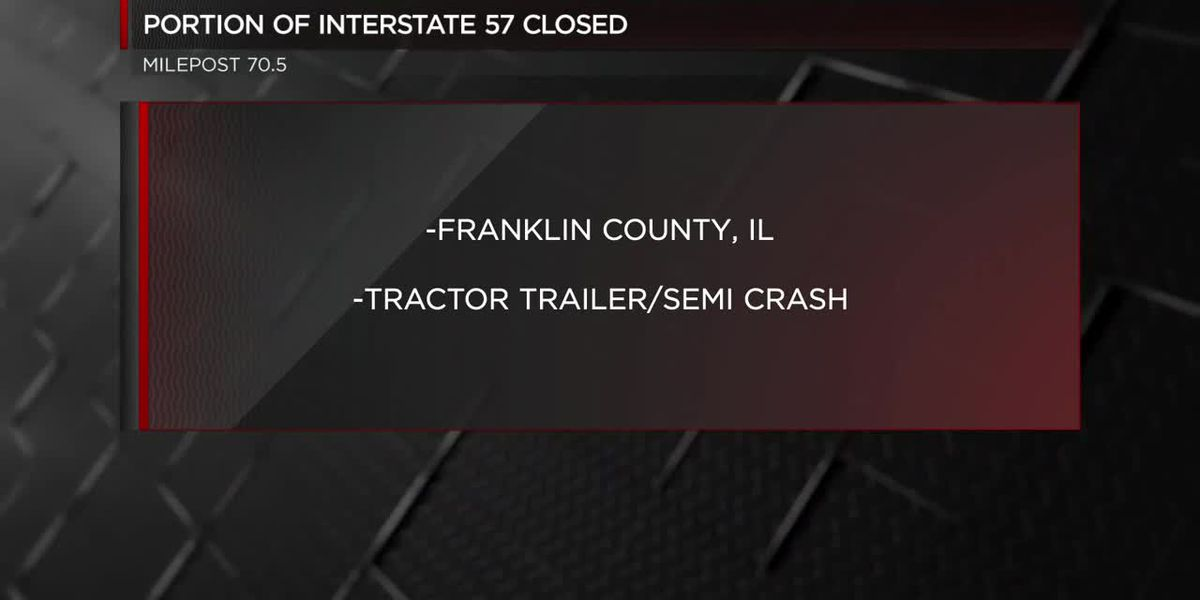 Semi trucked rolled over on I-57 southbound in Franklin Co.