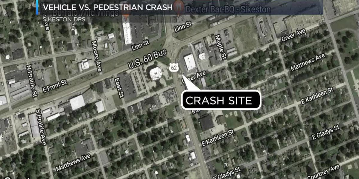 Sikeston DPS on scene of vehicle vs. pedestrian crash