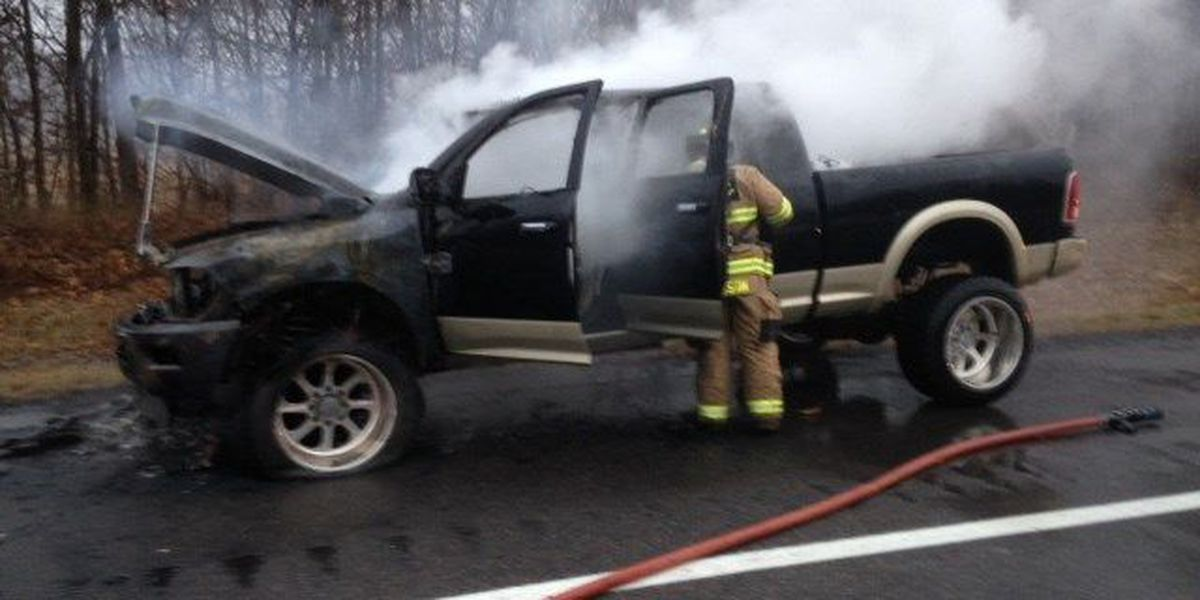 Crews respond to vehicle fire in Livingston County, KY