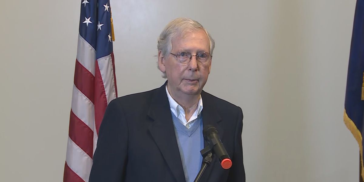 Sen. McConnell discusses GOP wins in Ky., 2nd stimulus package; no comments on presidential election